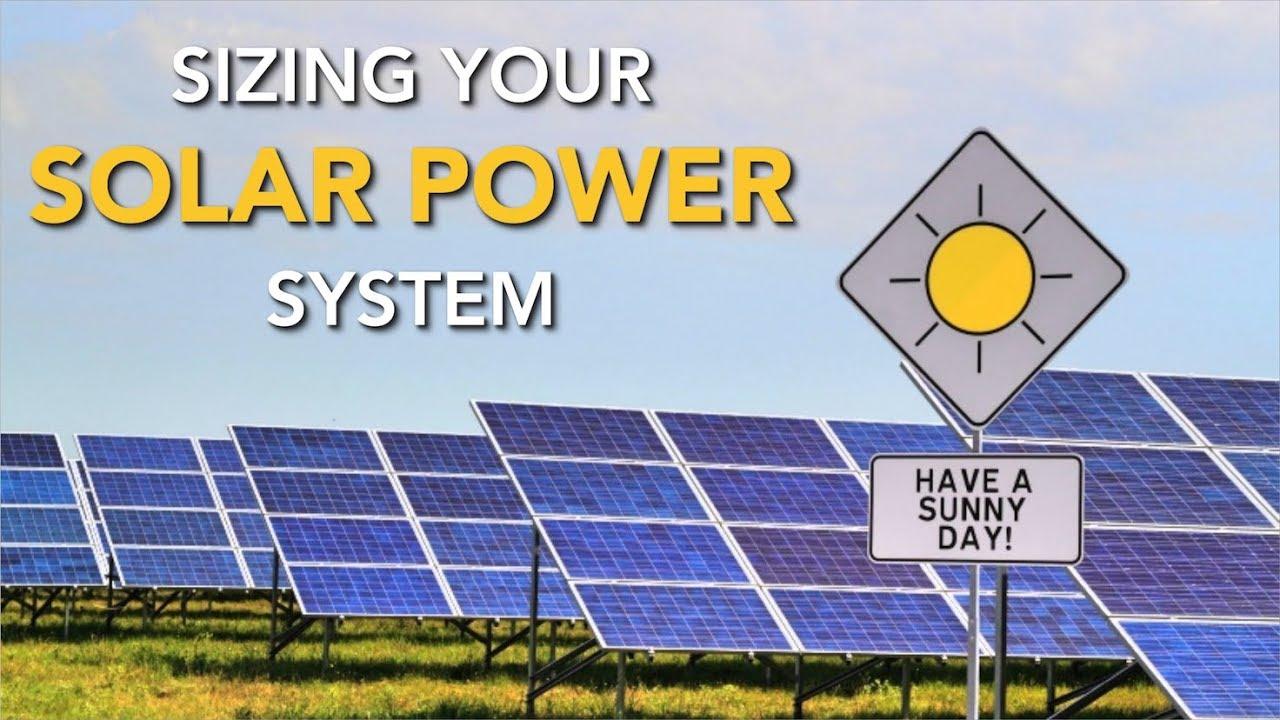 how to determine solar panel needs